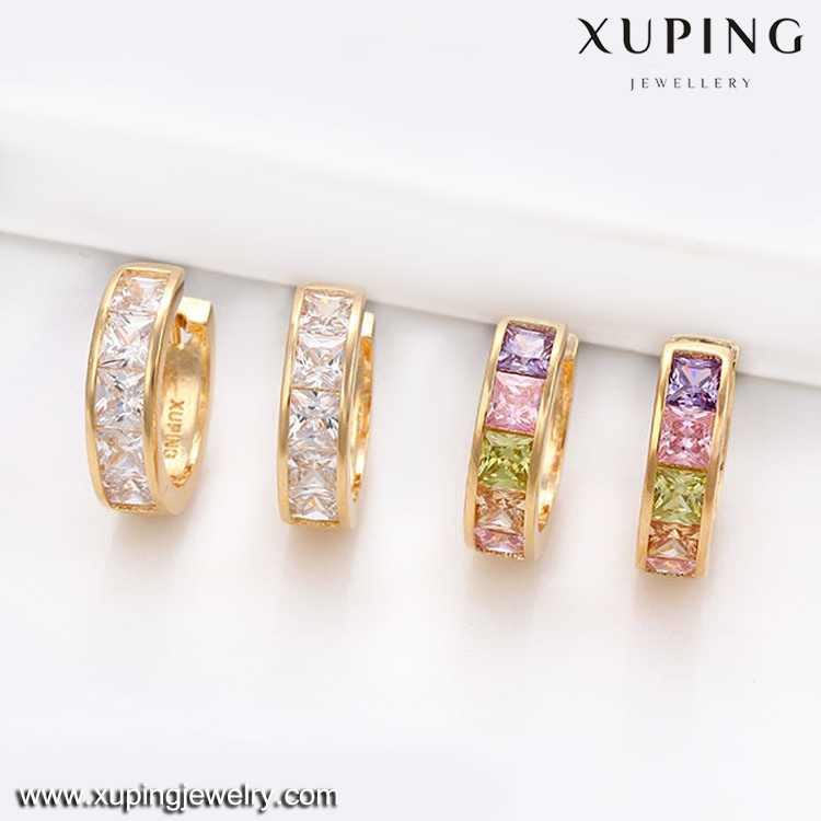 29255-Xuping Jewelry Hot Sale Fashion 18K Gold Plated Hoop <strong>Earring</strong>
