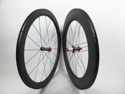 3G lace Powerway R36 carbon hub bicycle clincher mixed 60mm front 88mm rear wheels, with Sapim cx-ray spokes
