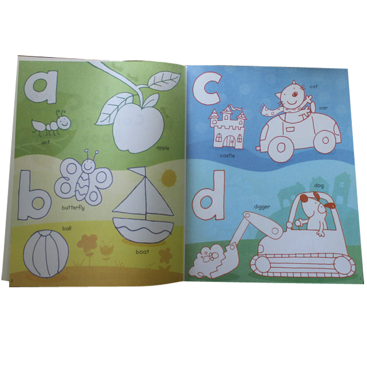 3 kinds of Colouring Book with Stickers