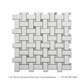 2017 Bianco Diamante White Basketweave Decorative Marble Mosaic