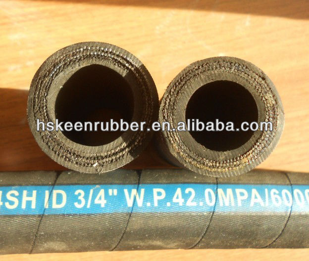 2 layers of steel braided rubber hoses