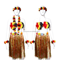 Hot Sales Hawaii Theme Party Tropical Hula Grass Dance Skirt Garland Hawaiian Party Decorations Supplies Dress
