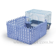 608-F Dog Cage w/6 fences