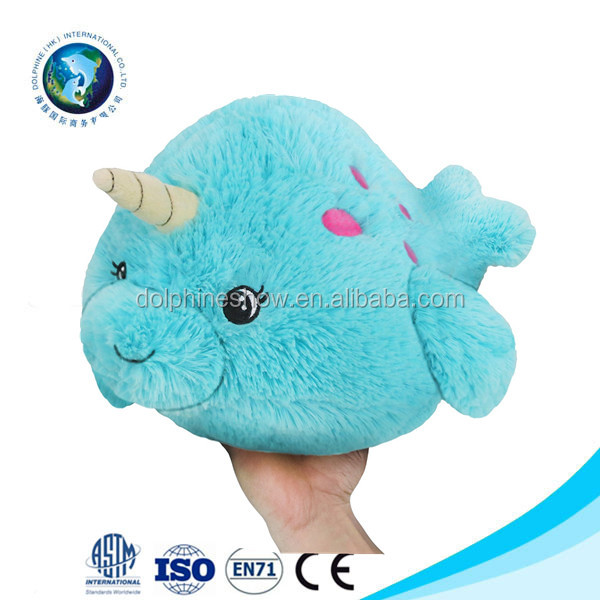 Custom stuffed animal narwhal unicorn plush toy