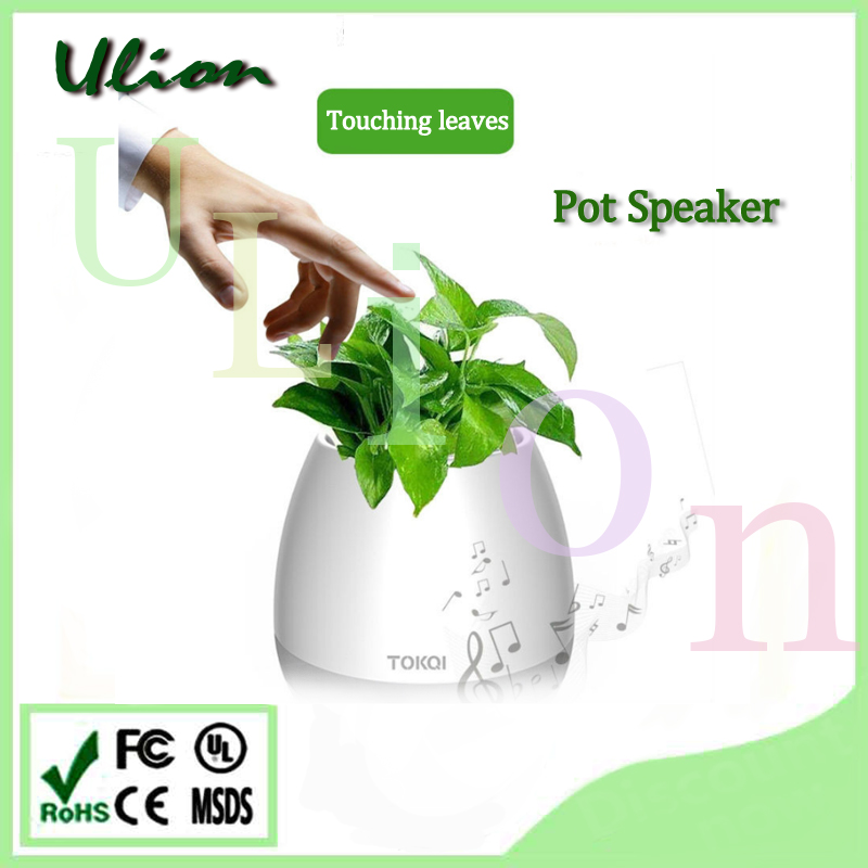 Led Waterproof Bluetooth Speaker with Smart Music Flower Pot Bluetooth Speaker with Led Light
