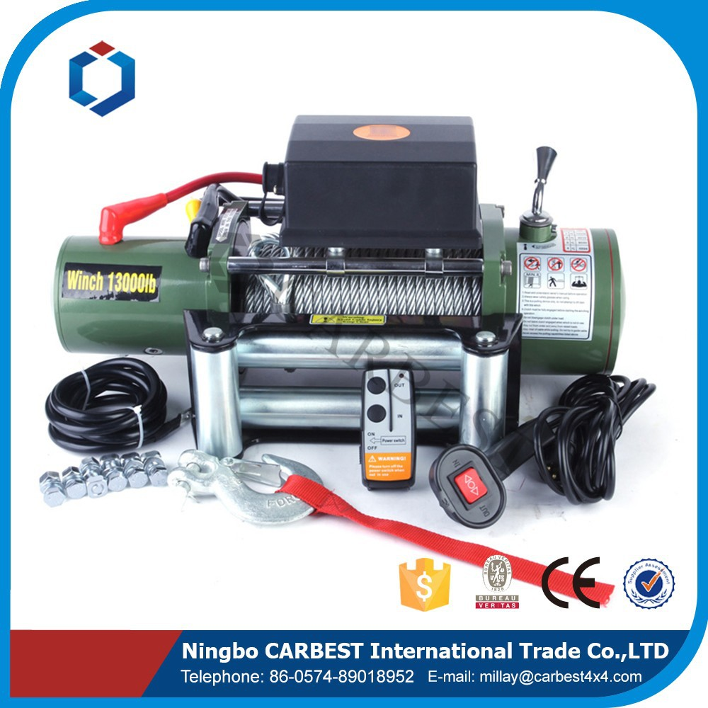 Best Sell Green 12V DC 24V DC13000LBS ELECTRIC WINCH