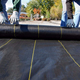 pp material woven fabric in tubular roll with black colour for agricultural mulch film