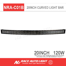 Super quality waterproof offroad 20 inch 120w wholesale dual rows curved car led light bar