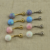 Fashion navel piercing belly button ring colorful opal belly rings