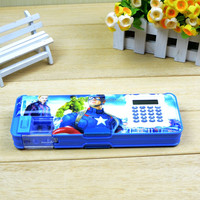 2016 new design pvc plastic pencil box case big need in china