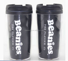 280ml personalised double walled insulated plastic starbuck coffee mug travel mug with paper insert