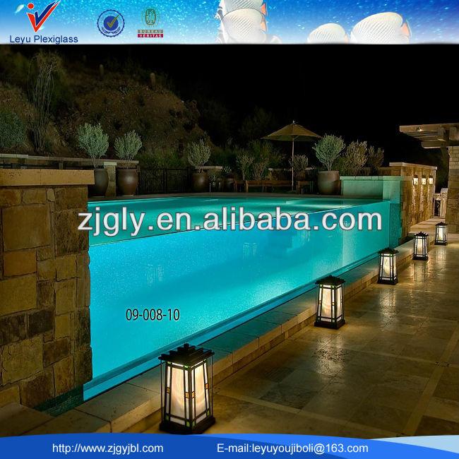 Alta calidad y hoja de acrilico transparente piscina for Piscina de acrilico