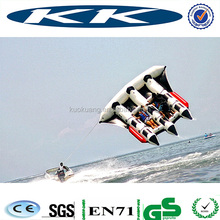 inflatable flying fish price, inflatable flying fish banana boat, low price fishing boat for fun