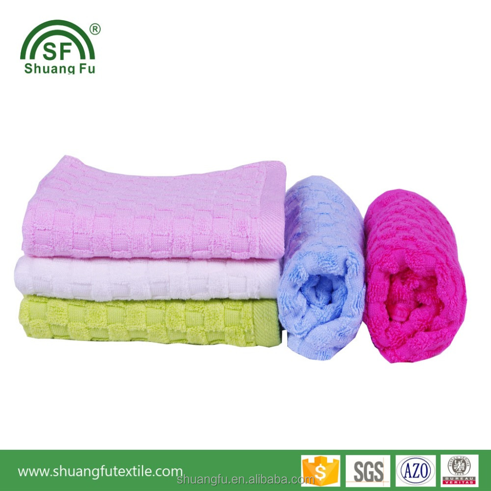 Factory Direct Supply the best quality 100% Bamboo Waffle Weave Face Towels