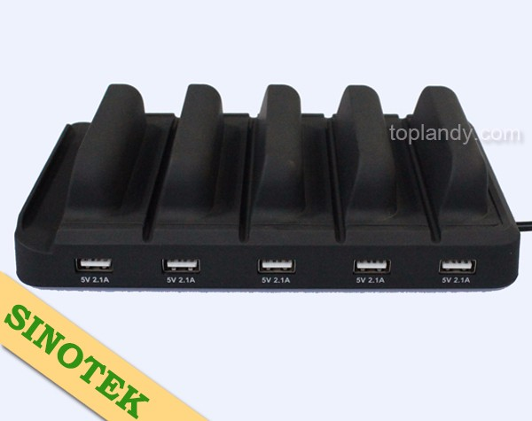SINOTEK 5 USB power docking station 2.1A for cell phone docking station for telephone handset