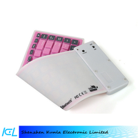 Foldable flexible silicone wireless bluetooth keyboard for iPad tablet keyboard bluetooth