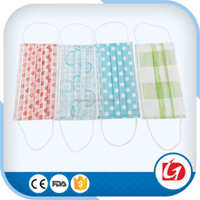 disposable non woven cute printed face mask