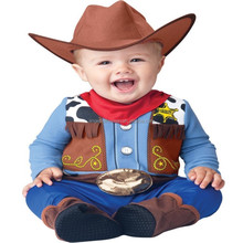Cowboy Baby 0-24 Months Fancy Dress Western Boys Toddler Infant Costume New BP1895