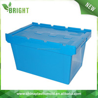 plastic folding crate with lid