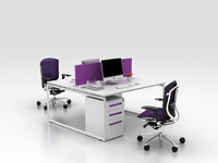 simple and clear fashion modular office desk with fabric panel(FIT-series)
