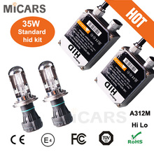 good quality ac standard h4 hi lo beam xenon 35W big standard ballast kit hi/lo beam xenon hid kit car accessory with good price