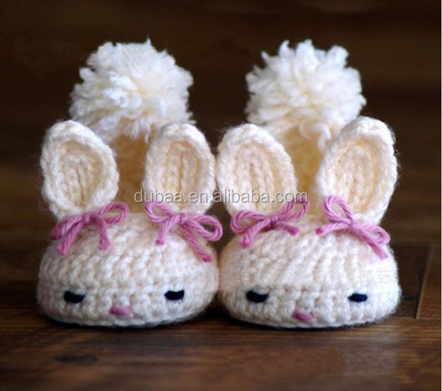 Baby Toddlers Handmade Crochet Knit Yarn Booties Soft Sole Shoes Socks Sandals
