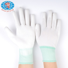 13G white polyester knit white PU coated work safety glove