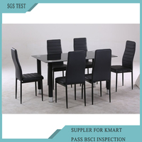 Glass Dining Table And 6 Chair