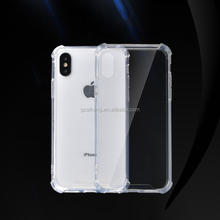 TPU phone case for iphone x plus wholesale clear tpu bumper with air bag protective for apple iphone 6