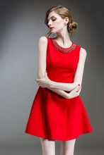 hot sell a line girl clothing elegant casual dress women work wear dress