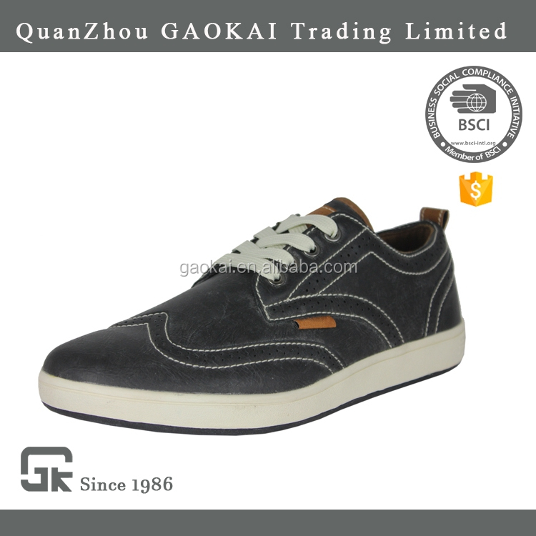 2017 Latest design textile and PU upper men fashion casual shoes