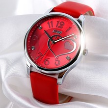 Hot sale fashion lady watch with leather straps