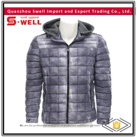 morden casual winter hoodled quilted jackets for men