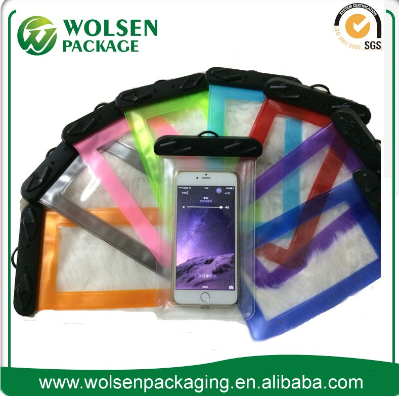 2016 low price china PVC waterproof case bag waterproof mobile phone pouch for smartphone