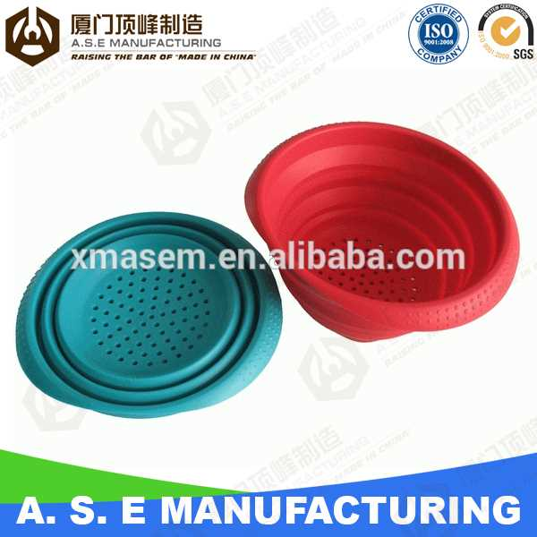Xiamen A.S.E OEM Manufacturing foldable silicone filter basket rubber doll suits