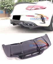Real Carbon Fiber Car Rear Bumper Diffuser for Mercedes Benz C Class W205 C63 Coupe 15UP M157