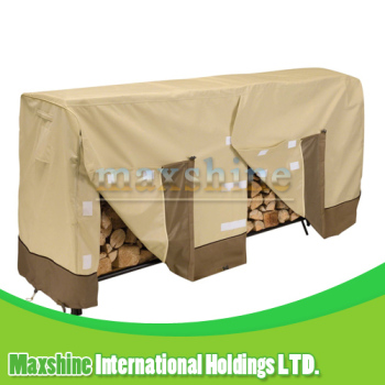 Patio Waterproof Durable Quality Beige and Brown 8 - Feet Log Rack Cover