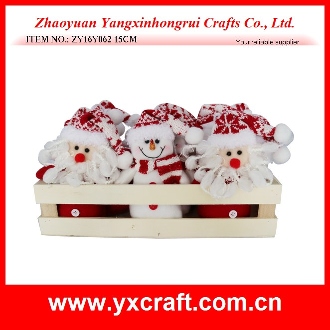 Christmas decoration (ZY16Y062 15CM) family set small christmas santa claus