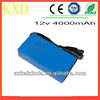 Factory price lipo 4000mah best quality 12v rechargeable battery
