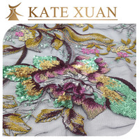 Tape embroidery fabric bangkok jacquard lace fabric for dress