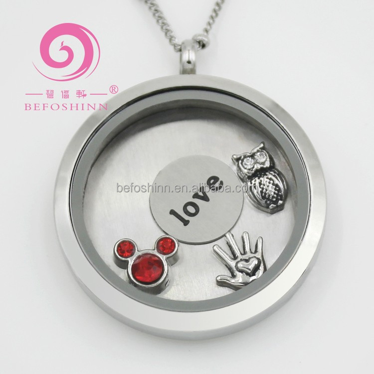 22mm Floating Locket Plates for or Glass Living Memory Lockets