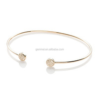 Mini disc bangle diamond jewelry vintage 925 sterling silver bracelet cuff