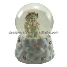 Lovely Valentine's Snow Globe with Music