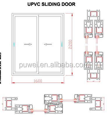 Upvc finestra scorrevole plastica finestra scorrevole - Finestra scorrevole verticale ...
