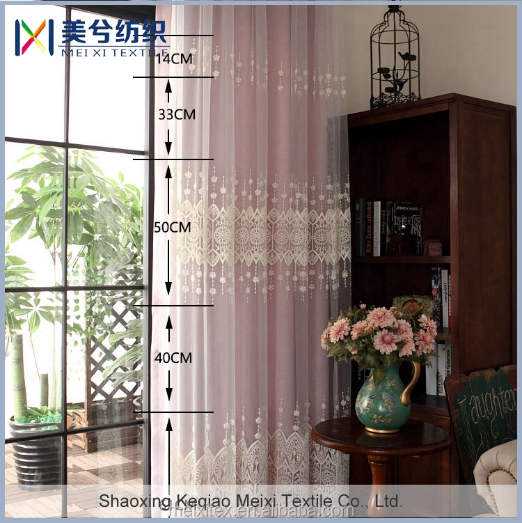Hot selling Home Fashion milk yarn line embroidery organza fabric