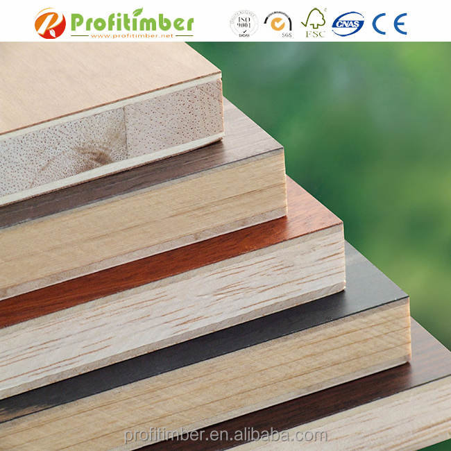 Various Colored Melamine Laminated Wood Block Boards