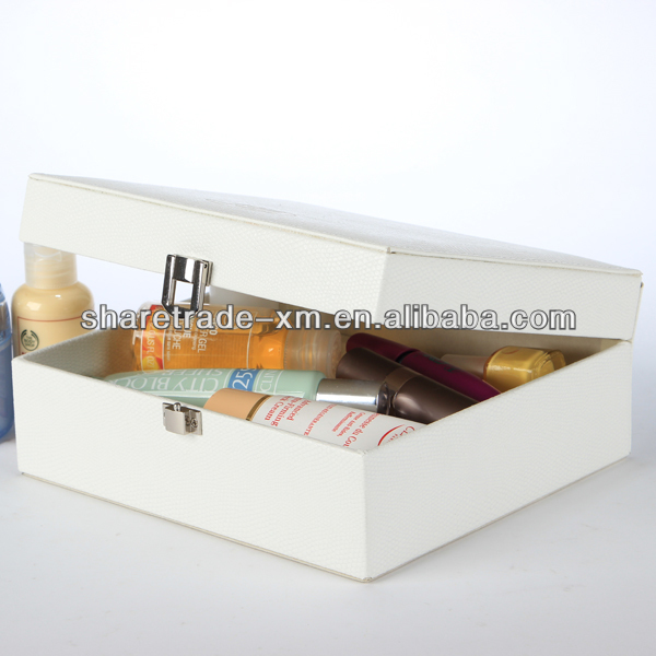 Custom printed blank cosmetic packing box wholesale makeup cases