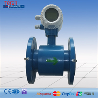 LCD Displayer Electromagnetic Water Meter Flow Meter Fluid Flowmeter China Supplier