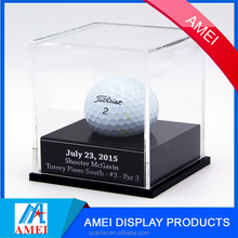 2017 clear hot acrylic single golf ball display case