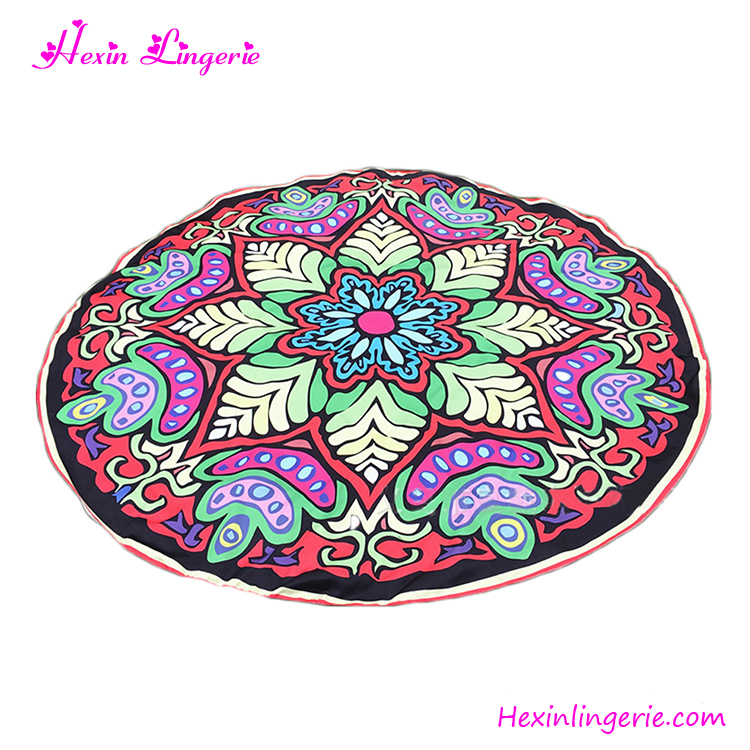 Colorful Mandala Round 100% Cotton Pareo Printed Beach Towel